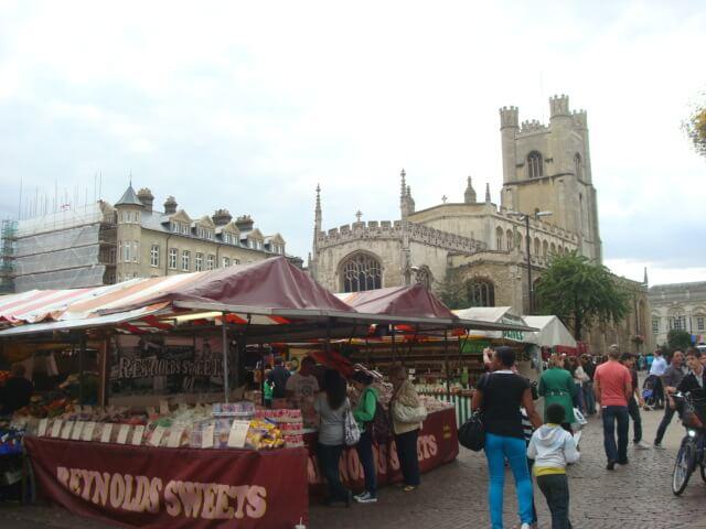 Plaza del Mercado en Cambridge