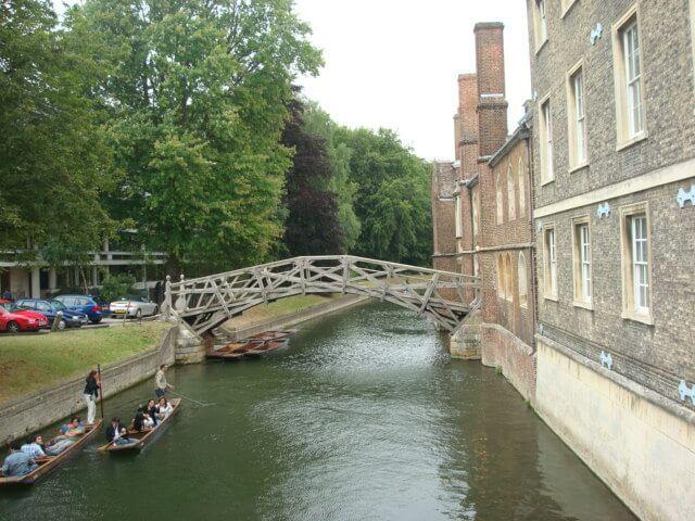 Orillas del río Cam en Cambridge