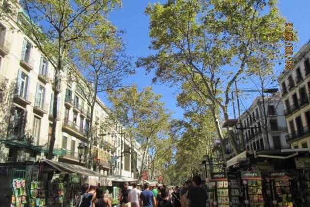 Las Ramblas de Barcelona, una tarde cualquiera...