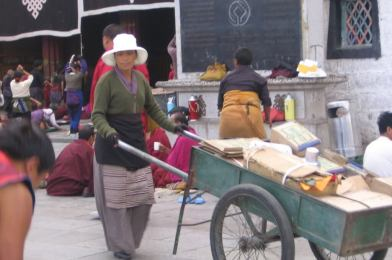 Lhasa en el Tíbet.