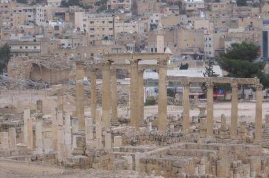 Jerash en Jordania, el segundo lugar más turístico del país.