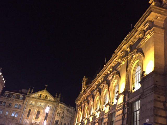 Oporto y la estación de trenes.