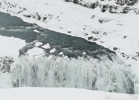 Cascada Gulfoss en invierno