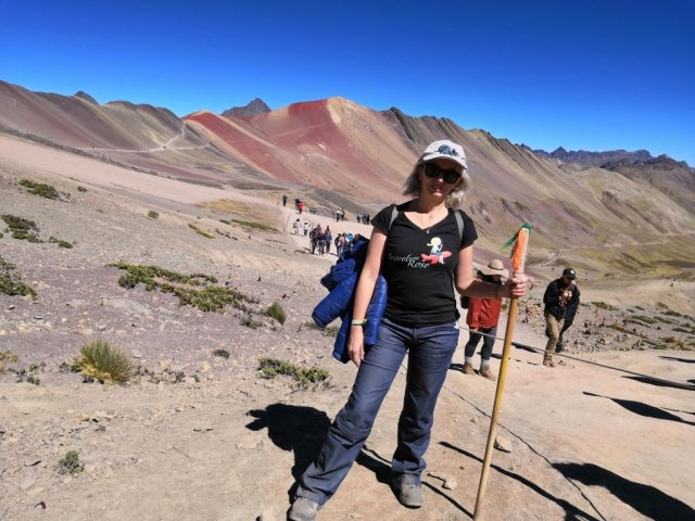 Montaña del arco iris o Vinicunda en Perú