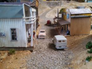 old time western town