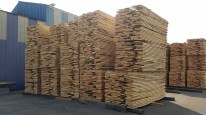 piles of first cut wood