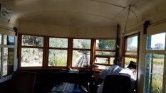 view from the railcar. Note switchover for narrow gauge on track