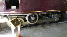 Drive truck for the McKeen railcar. Note drive was only on front wheel and that was a different size to the other wheel.