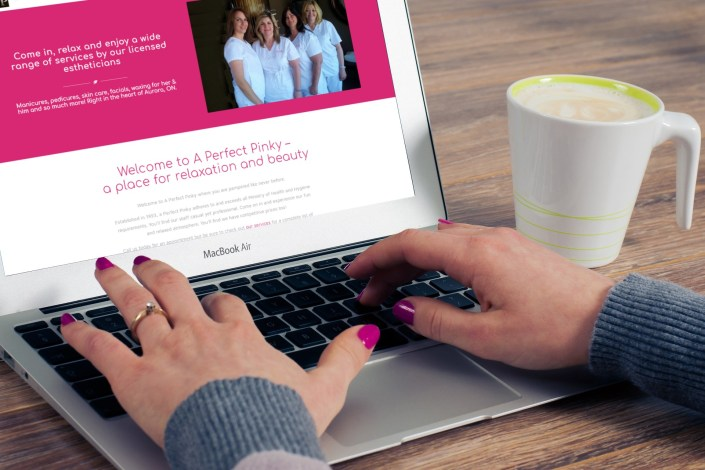 A Perfect Pinky - Social Media Marketing Newmarket by Rosewood VA