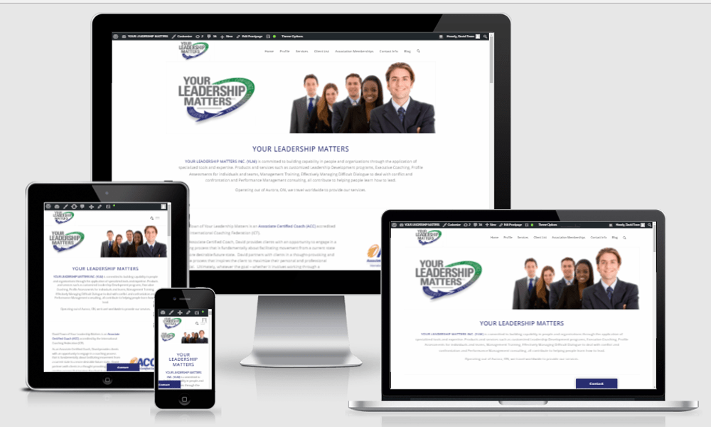 Newmarket Web Design for Consulting Business