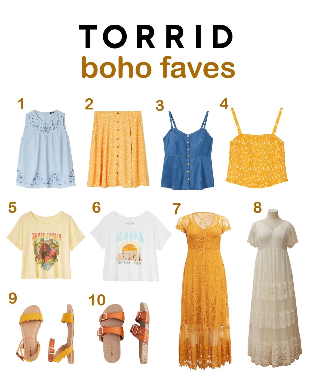 Torrid boho clothes