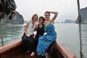 Erica, Michele and Rosey @Ha Long Bay. Photo: Vincent Pardieu