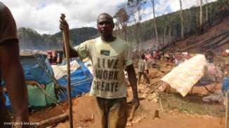 "A Miner from ""rush site"" near Ambatondrazaka, Madagascar. October 2016"