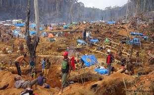 """Rush Site"" near Ambatondrazaka, Madagascar. October 2016."