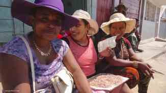 Female middlemen in Ilakaka. Photo: Rosey Perkins