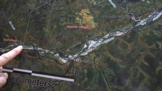 Map showing the Lugenda River. Photo: Rosey Perkins