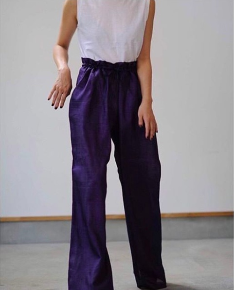 purple pants