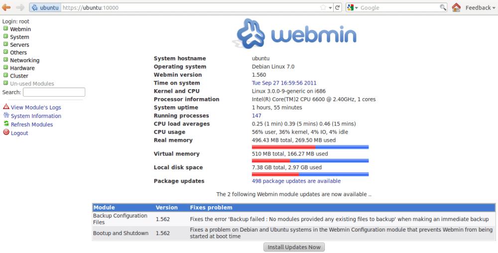 How to Install Webmin on Ubuntu 11.10/11.04 Server (2/2)