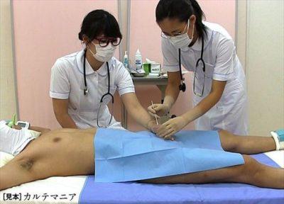女子医大生のための男性器生理学講座 射精の観察② 仮性包茎陰茎の観察と射精サンプル1