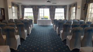 Baby blue sashes at The Berry Head Hotel