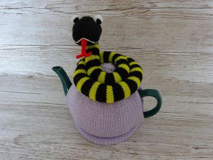 knitted tea cosie snake
