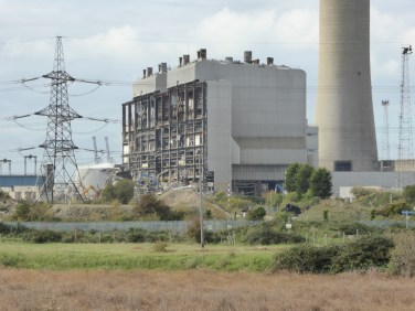 Grain power station, which is currently being demolished.