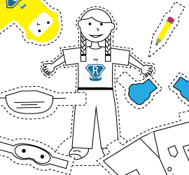 Print, color, cut and send your Rosie science experiments happening near you!