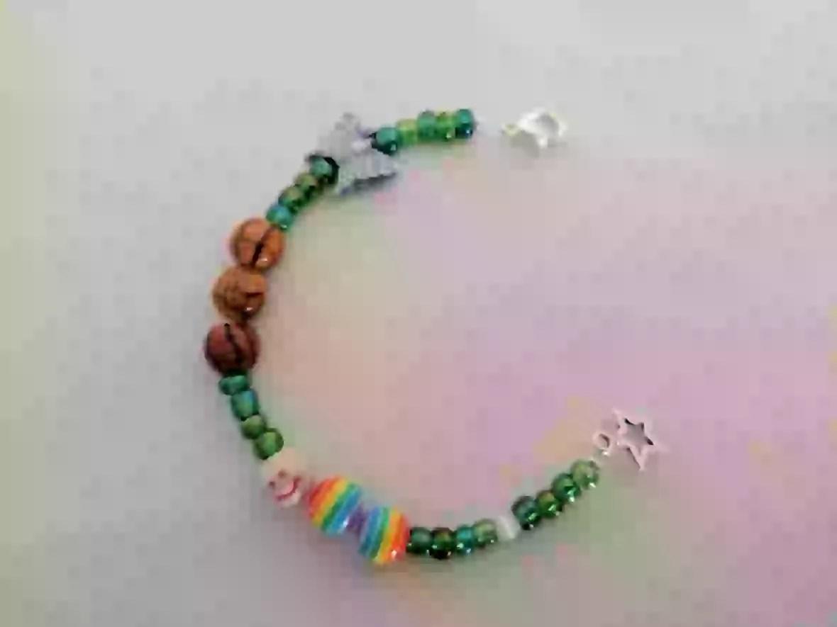 butterfly life cycle bracelet