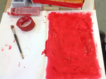A red drawing abstract I did for Micks drawing module
