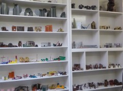 Anothony Caro's sculptures on shelves.