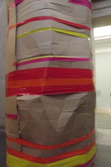 Untitled Dock crushed tower by Phyllida Barlow