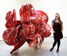 Myself next to Industrial Nature 2015 by Tony Cragg