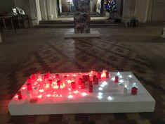 my figures lit up on the plinth