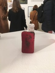 Back of my wax crayon figure with its shadow