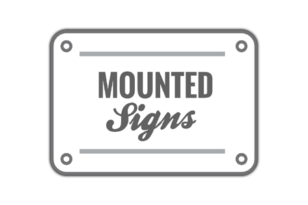 Mounted Sign Icon