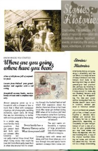 Mock-up of a brochure for Story-History (a startup)