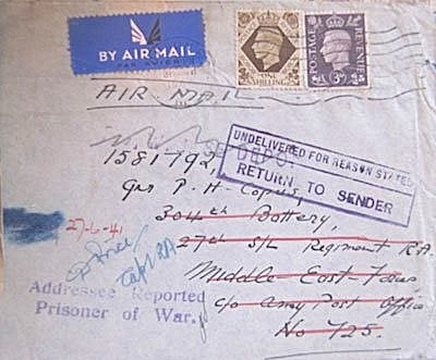 Return to Sender: 27 June 1941