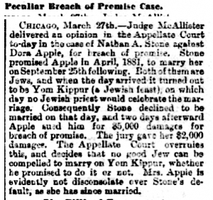 Breach of Promise 1883