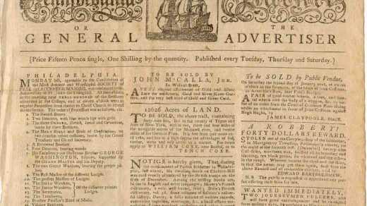 newspaper 1779