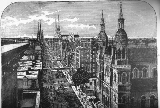 Fifth Avenue ca 1884