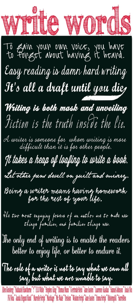 write words