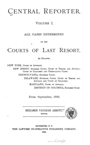 central reporter title page
