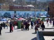 Stalls near Seoul National University gate - Gwanaksan path entrance