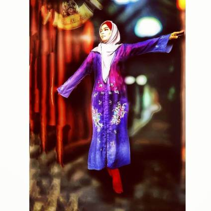 Hijab Collection with handmade painting by Rosita Rose