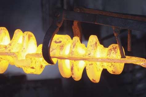 A hot-forged crankshaft