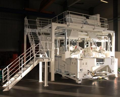 Rosler RKWS 3 x 4 blast machine