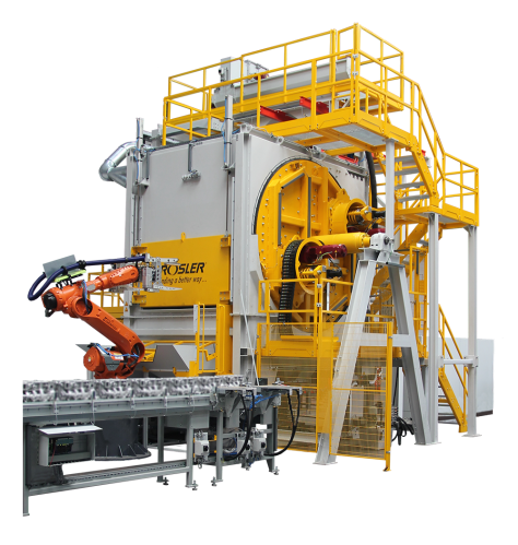 Rosler RMBS Blast Machine with Integrated Gripper