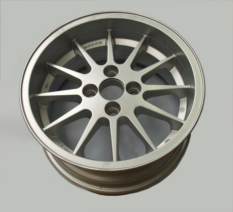 An automotive wheel processed by Rosler's RWK