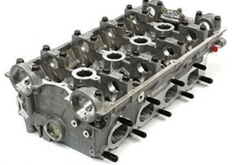 Cylinder head processed by the Rosler RROB Roboblaster