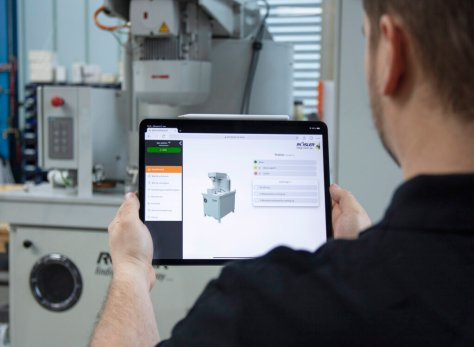 person using Rosler Smart Solutions interface